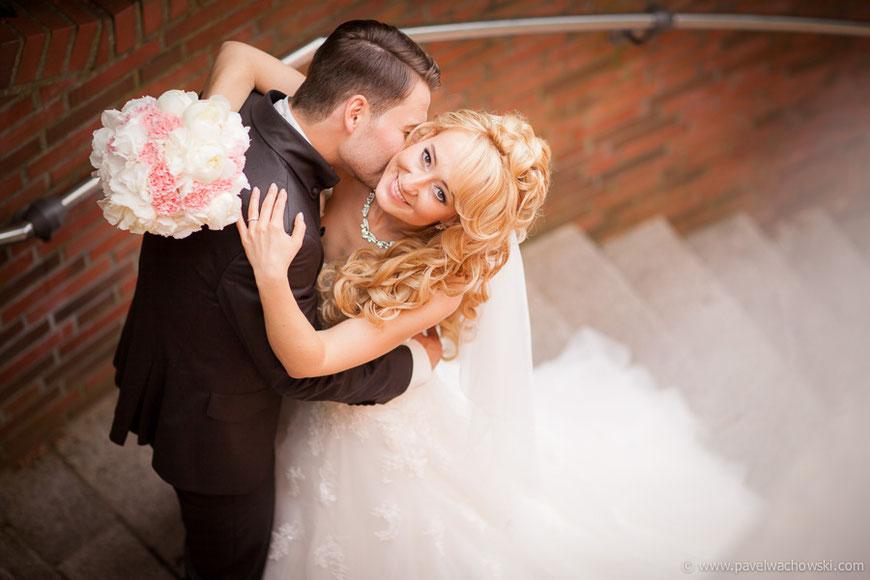 Brautpaar von oben