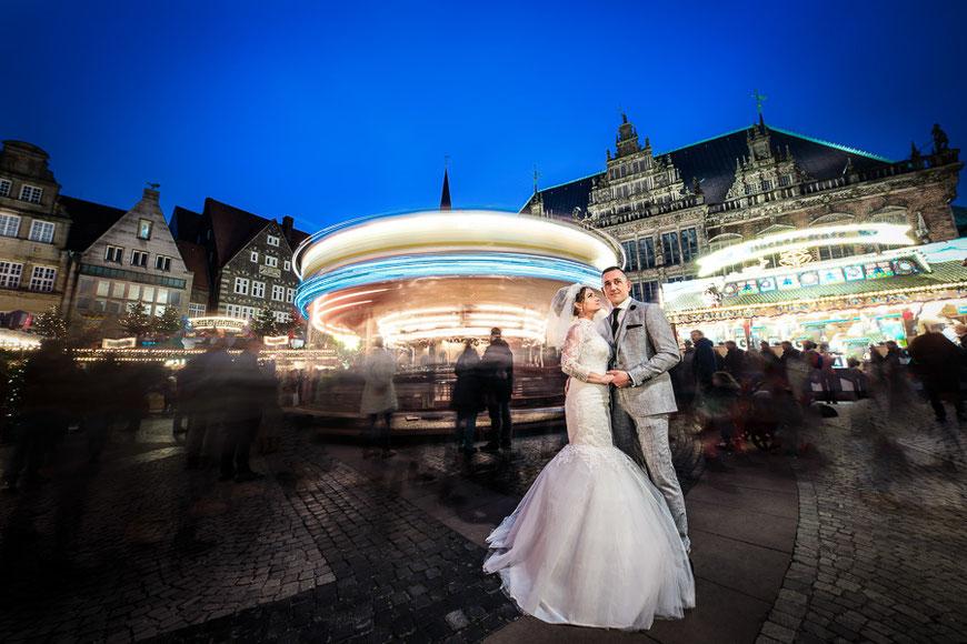 Hochzeitsfotograf Bremen Marktplatz