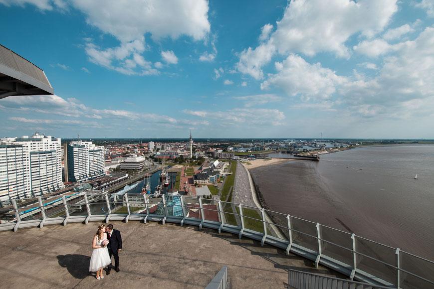 Hochzeitsfotograf Bremerhaven von oben
