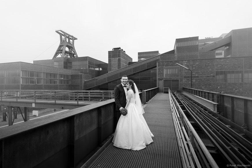 Brautpaar Schwarz-Weiss