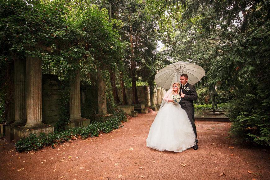 Hochzeitsfoto Regen