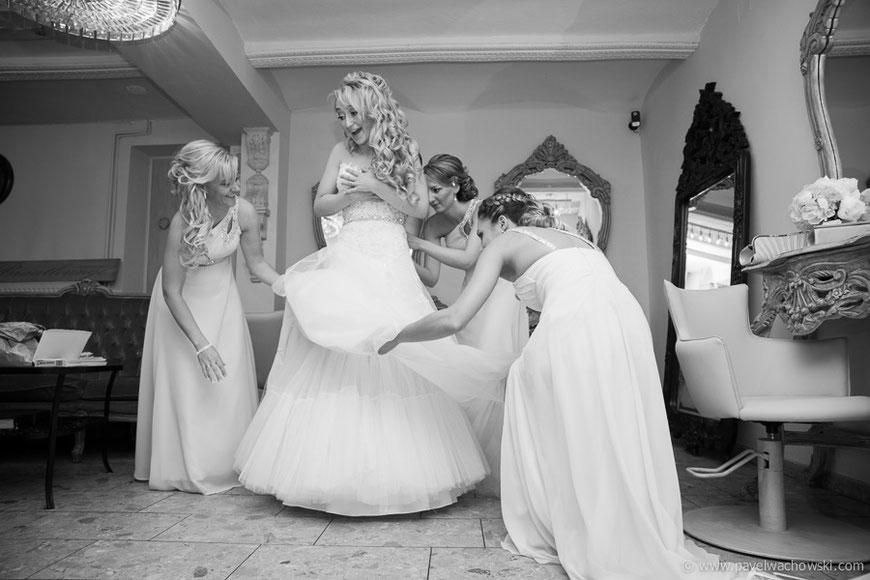 Vorbereitungen Braut