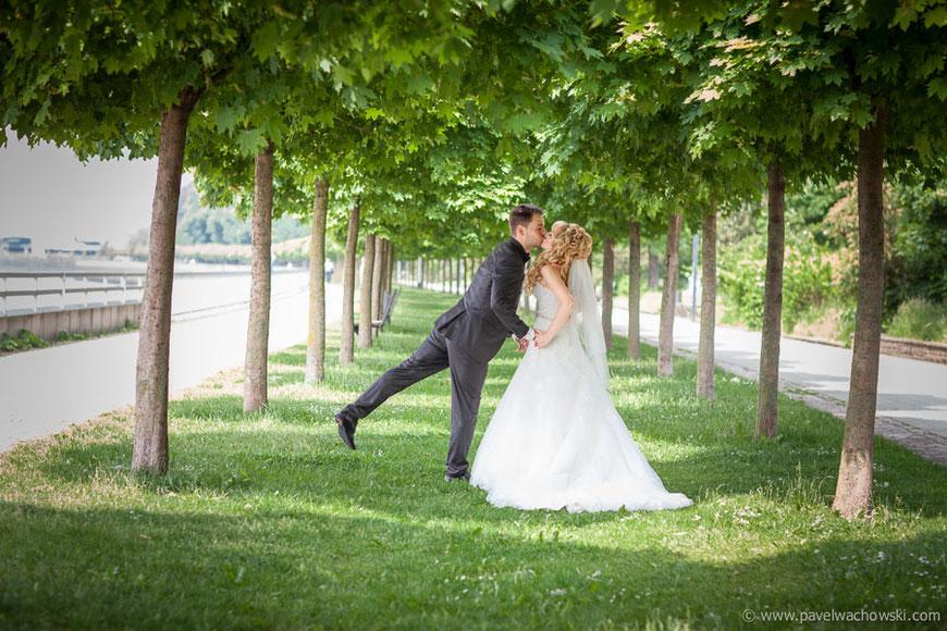 Weserpromenade Nord Allee Hochzeitsfoto