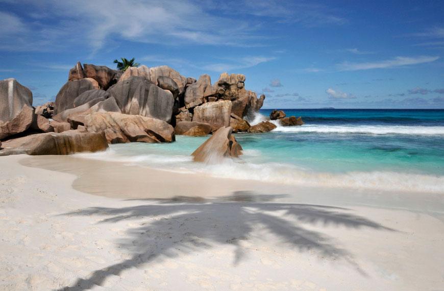 Strand Anse Source D'Argent, La Diuge, Seychellen
