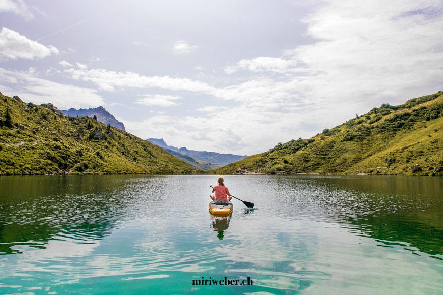 Bergseebungalow, Partnunsee, Graubünden, Prättigau, Schweiz, Bündner Bergsee, lebe deinen Traum