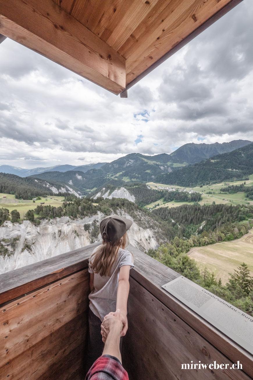 Crap Signina, wandern, Laax, Flims, Fotograf, Aussichtspunkt, Rheinschlucht, Familien, Wanderung, Tipps, wandern