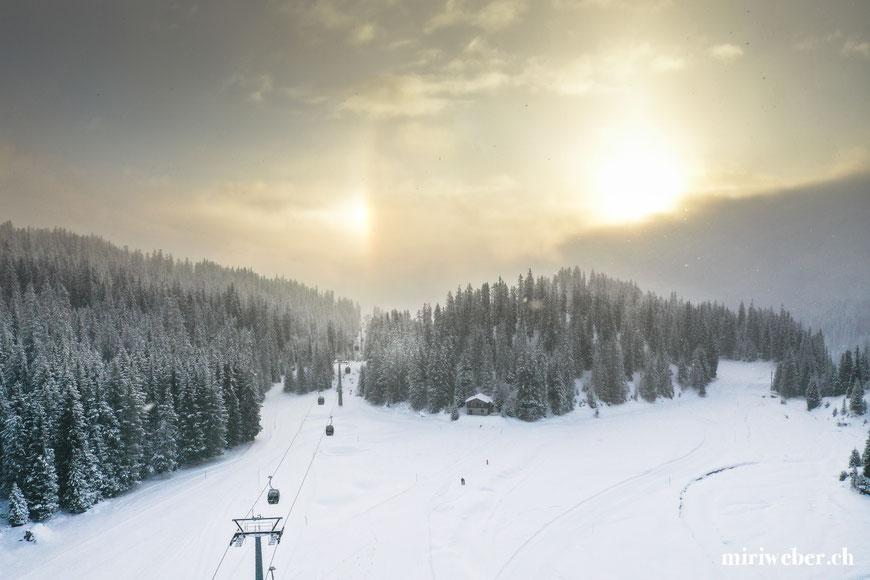 Drohnenaufnahmen Tegia Alp Plaun, Flims, Laax, Berghütte, Ferienhaus, Maiensäss, Graubünden, Schweiz, Content Creator, Fotografin, Fotograf
