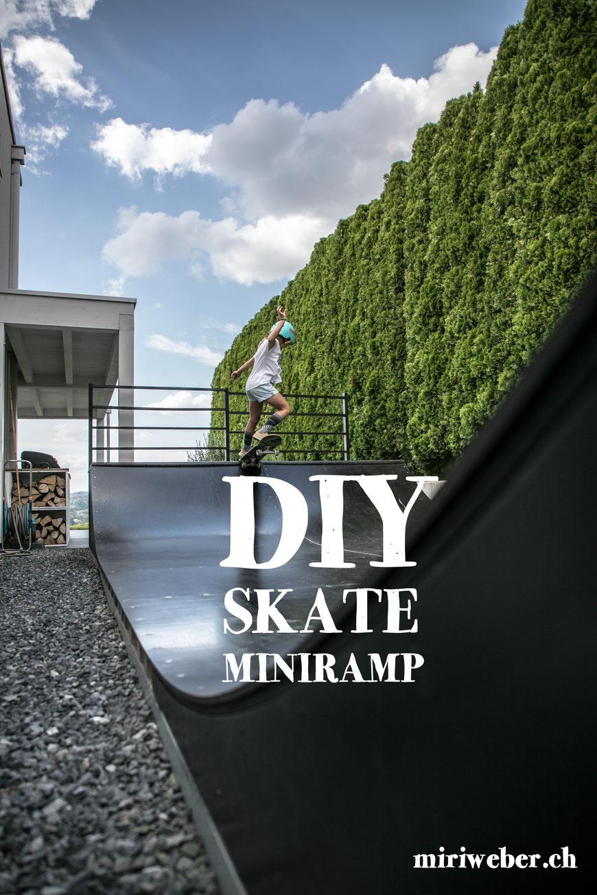 Skateboard, Mini Ramp, Halfpipe, DIY, selber machen, Bauplan, DIY Blog Schweiz, Skate, Backyard, Outdoor Ramp, selber bauen, Anleitung, Plan, Swiss Skate Famil