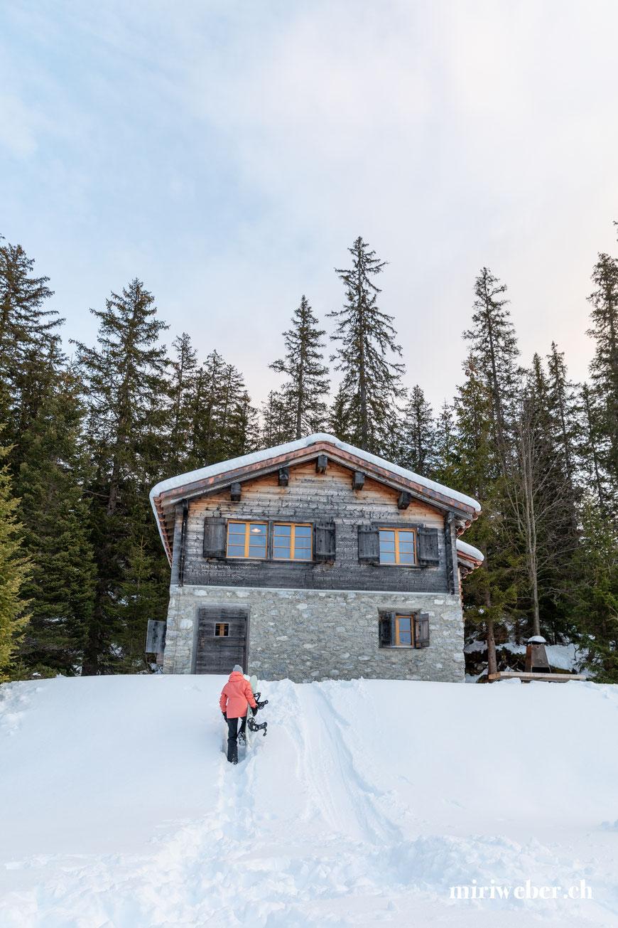 Tegia Alp Plaun, Flims, Laax, Berghütte, Ferienhaus, Maiensäss, Graubünden, Schweiz, Content Creator, Fotografin, Fotograf