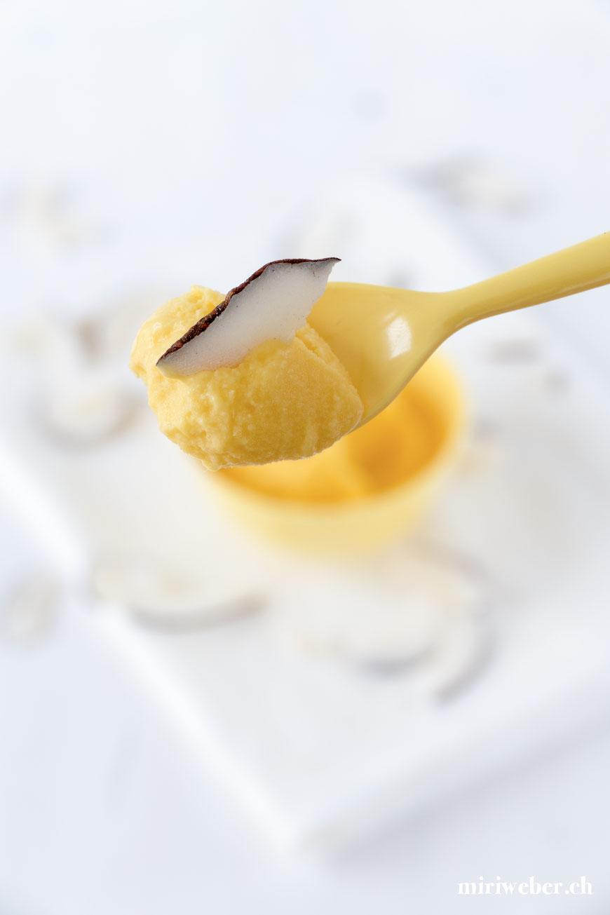 Mango Eis, Rezept, gesund, selber machen, Food Blog Schweiz, Eis Rezept, Glace selber machen