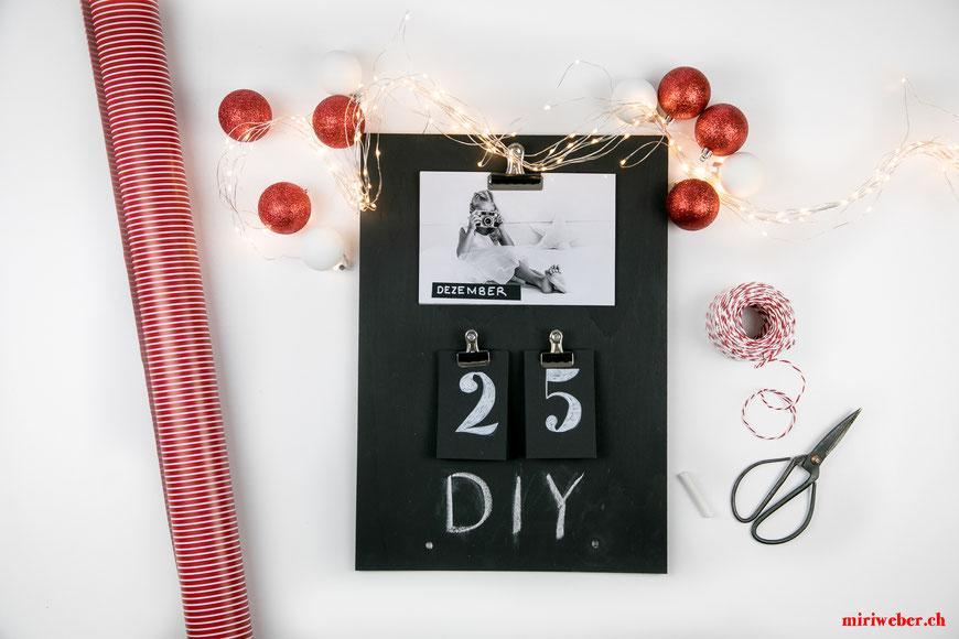 anleitung kalender, chalkboard, diy, jahreskalender, kalender, geschenkidee, weihnachtsgeschenke, basteln, kinder, weihnachten, diy blog schweiz, schweizer diy blog,