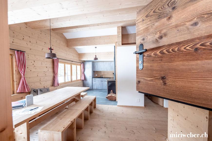 Tegia Alp Plaun, Flims, Laax, Berghütte, Ferienhaus, Maiensäss, Graubünden, Schweiz, Content Creator, Fotografin, Fotograf, Hotel Fotograf