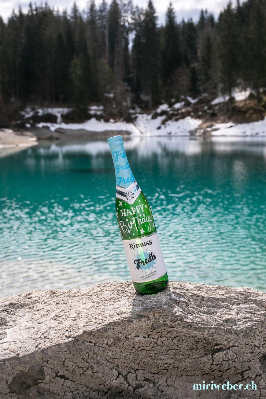 Rimuss Fresh, Creative Content Creator, Schweiz, Blog Schweiz, DIY Blog Schweiz, Lettering auf Flasche, Schweizer Blog, alkoholfrei, Kinderwein, Fresh, Foodblog Schweiz