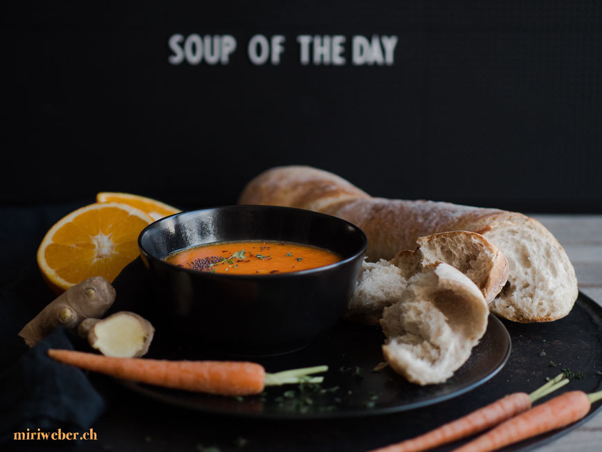 food fotografie, tipps, top tipps, panasonic, blog, food styling, food blog, schweiz, food bloggerin, suppe, karotten, orangen, ingwer, rezept, lumix gh5