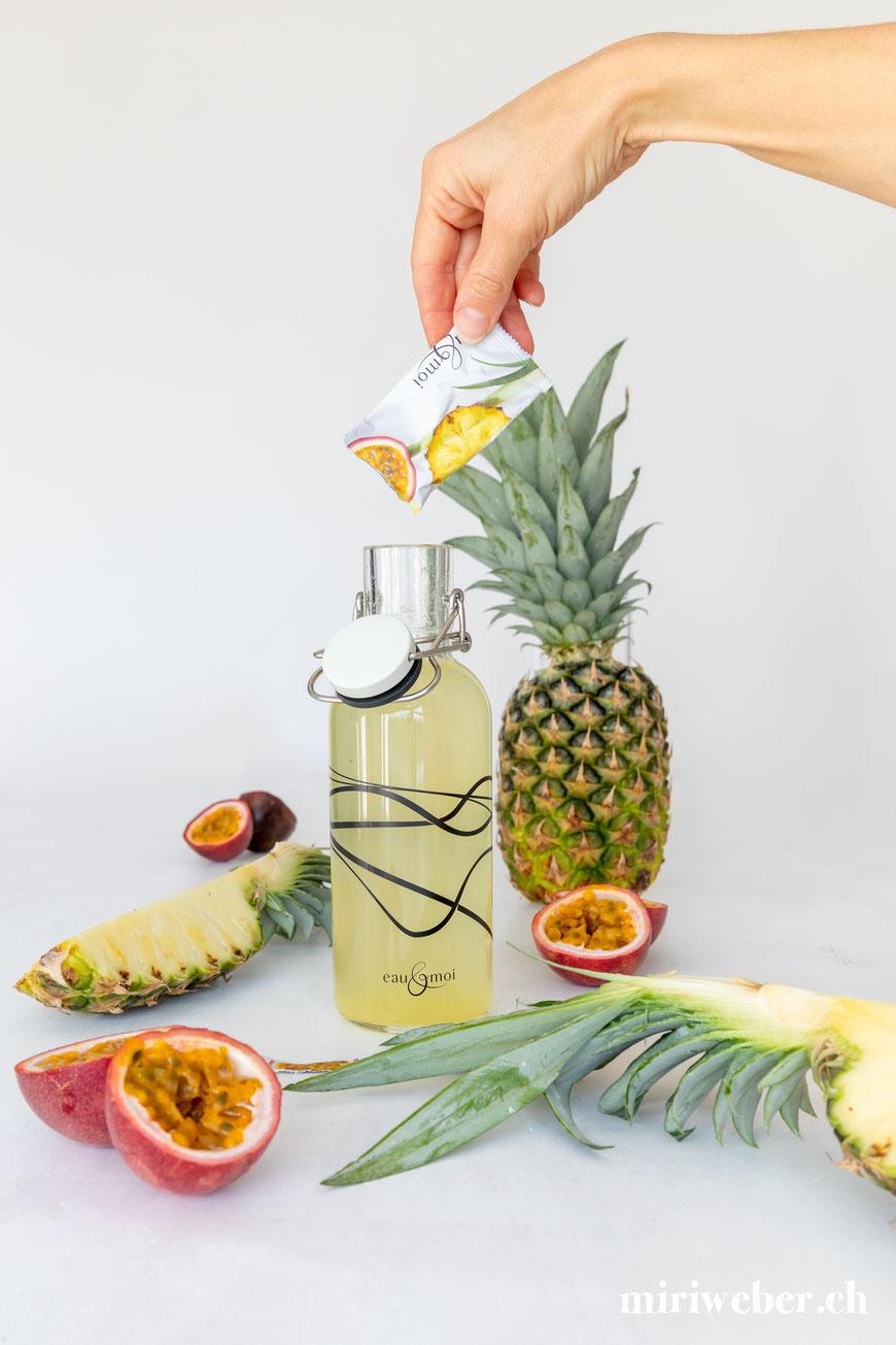 eau & moi, Wasser trinken, Content Creator, Food Fotografie, Fotograf, Flims, Laax, Schweiz, Content Creation, Food Blog