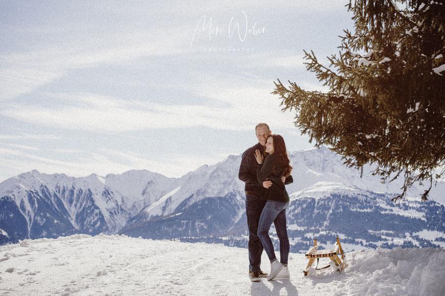 Elopement Hochzeit, heiraten, Hochzeitsfotograf, Schweiz, Flims, Laax, Graubünden, Paarshooting, Fotograf