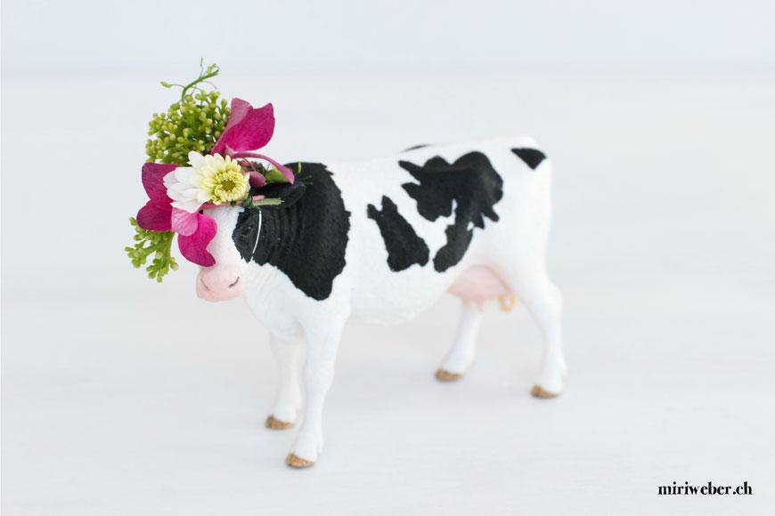 Alpabzug Schweiz, Alpabzug 2017, Tischdekoration, Kuhschmuck, Blumendekoration Frühstück