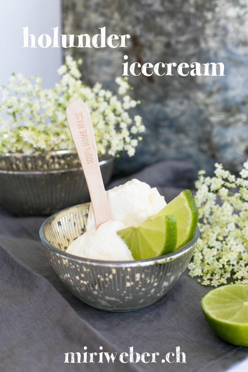 Holunderblüten, Eis, Rezept, Ice Cream, Sirup, Holunder, Sommer, Glace selber machen, Recipe, Food Blog Schweiz, Eis, mit Eismaschine