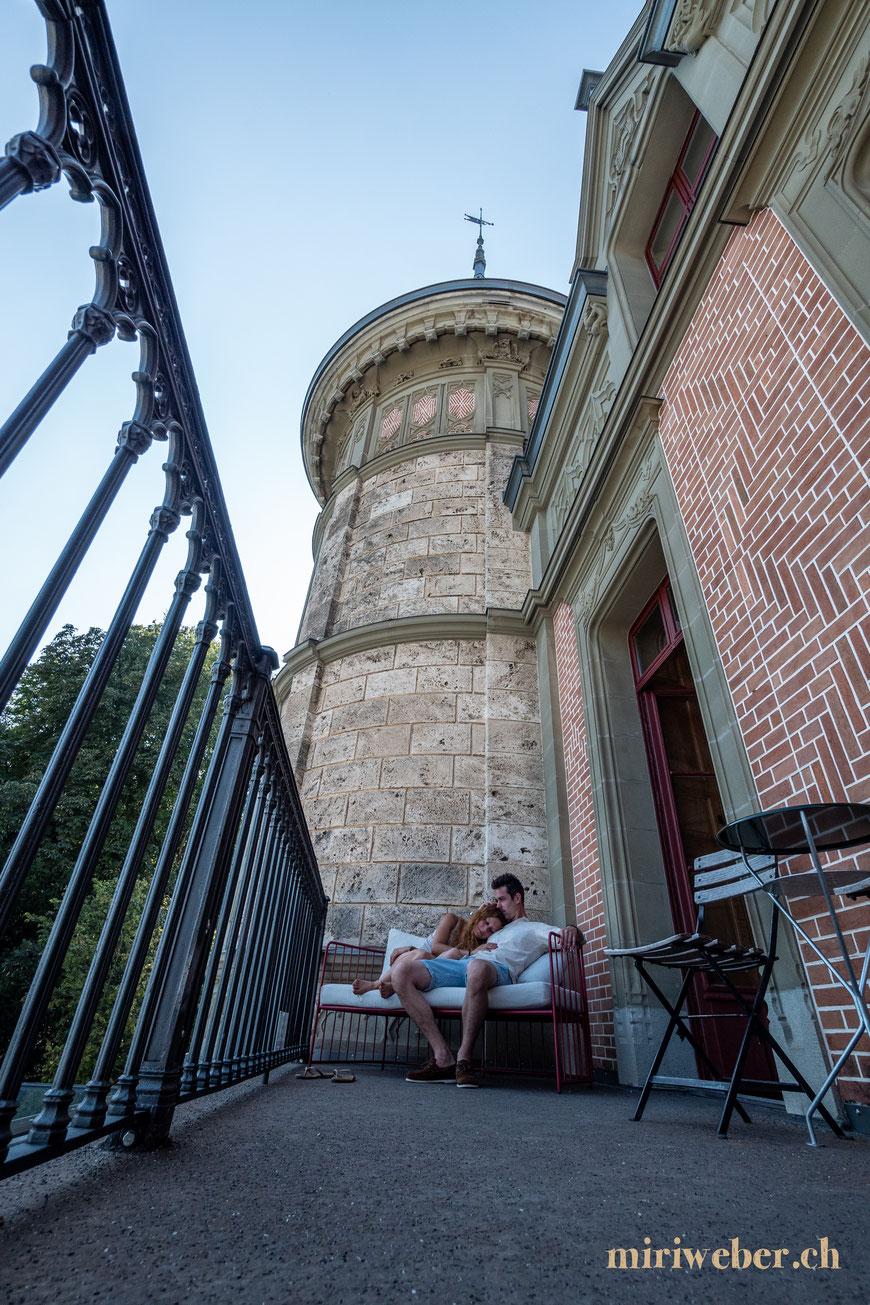 Schloss Schadau, Hotel, schlafen im Schloss, Suite, Traumhotel, besonderes Hotel, Erlebnis, Ausflug, Berner Oberland, Schadaupark, Turmsuite