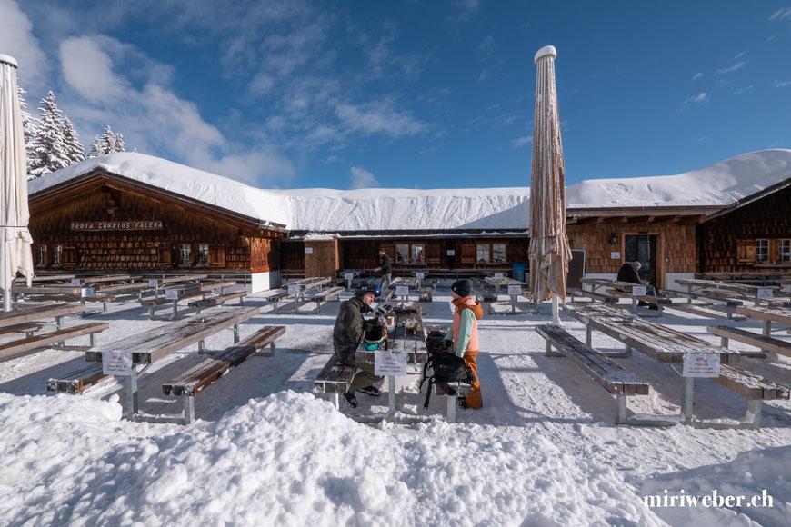 Tegia Curnius Falera, Restaurant, Berghütte, Skiregion Flims, Laax, Falera, Tipps