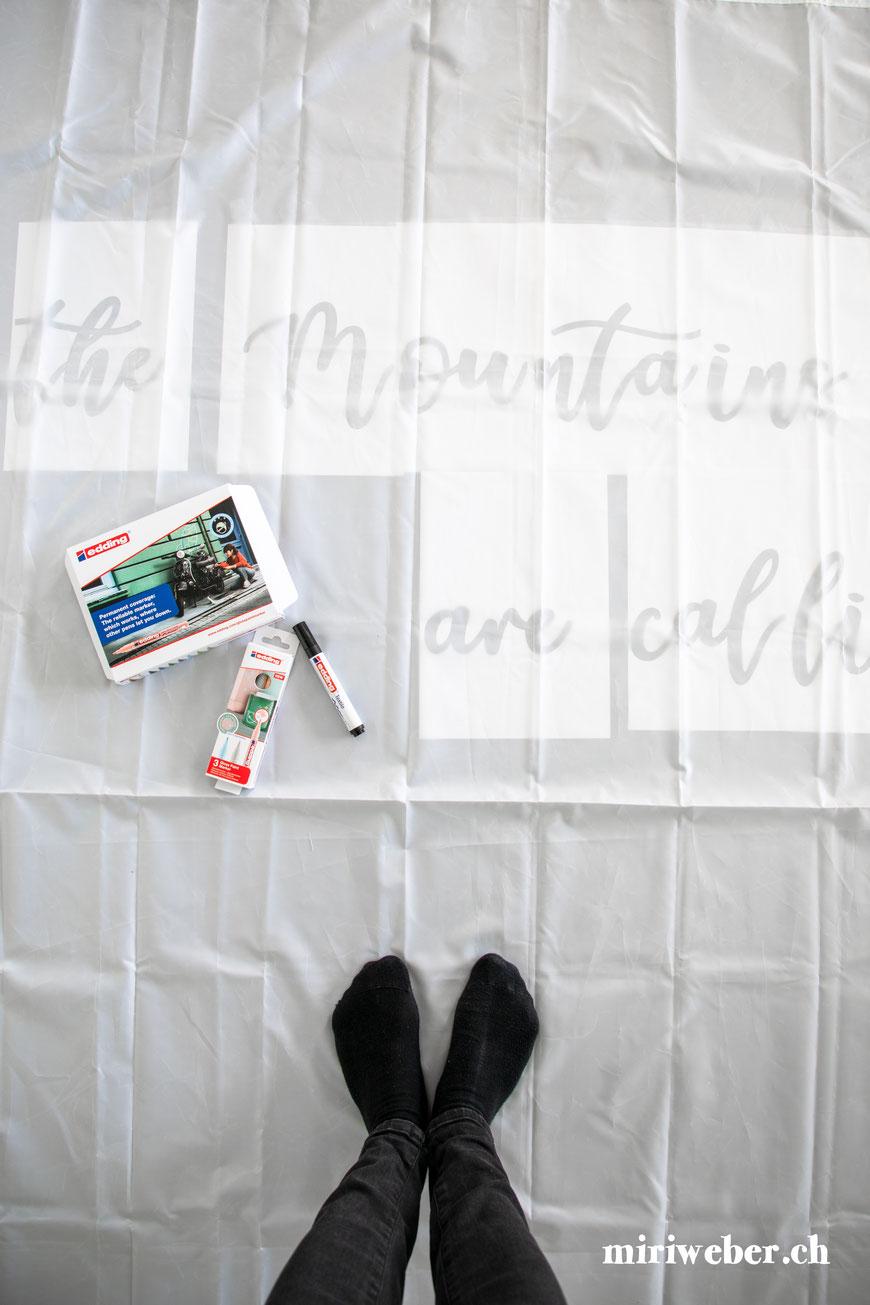 diy Duschvorhang, Duschvorhang beschriften, Duschvorhang selber machen, Douche, Douchevorhang, selber machen, Anleitung, bemalen, beschriften, wasserfest, persönlich, Lettering auf Duschvorhang, Kreativ, Basteln