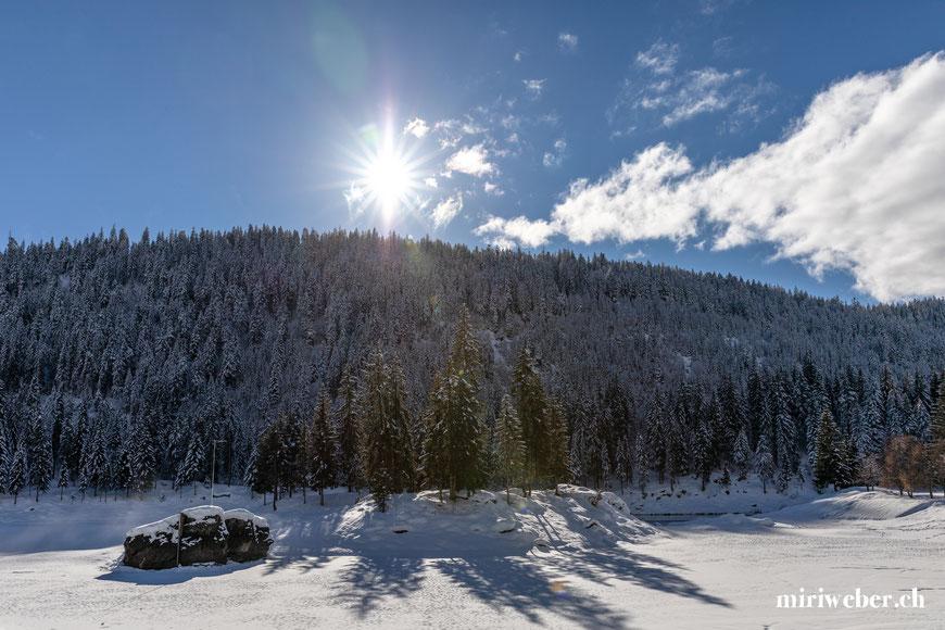 Caumasee, Fotospot, Winter, Spaziergang, Flims