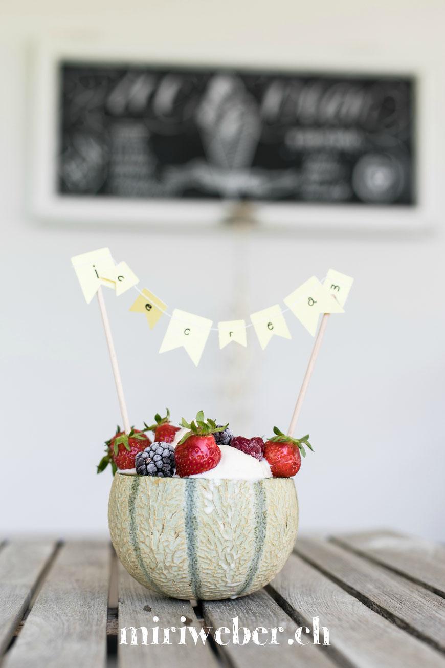rezept, eis, ice cream, melone, honig melone, glace, eis selber machen, homemade, einfaches rezept, glace maschine, food blog schweiz, schweizer food blog,