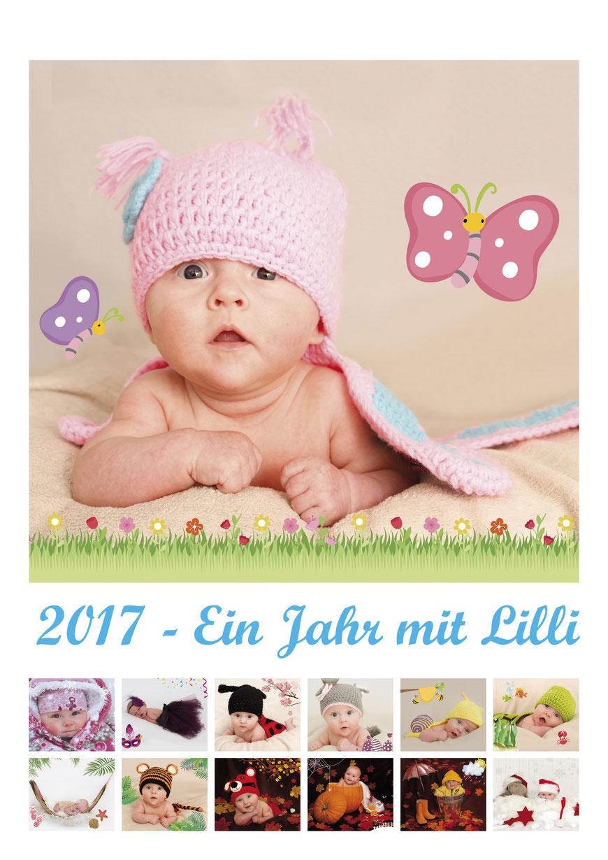 Fotokalender Neugeborenenshooting Babyfotos