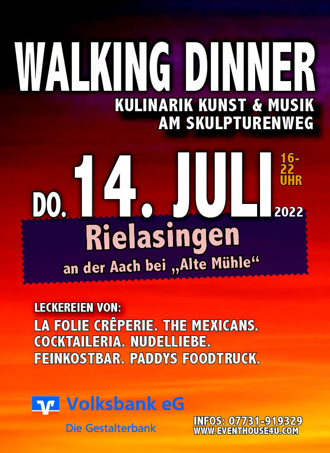 Walking Dinner am Skulpturenweg Rielasingen 2020