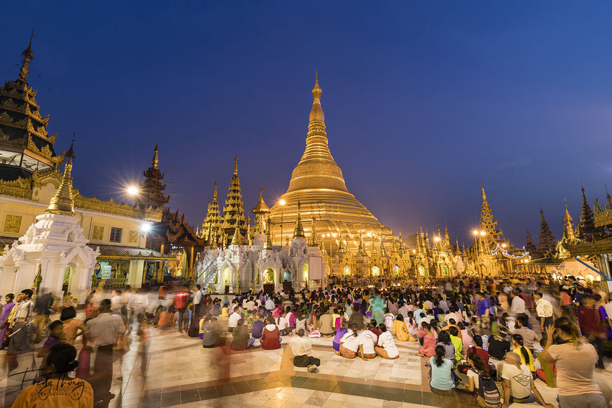 Shwedagon Pagode 2018 in Yangon, Myanmar
