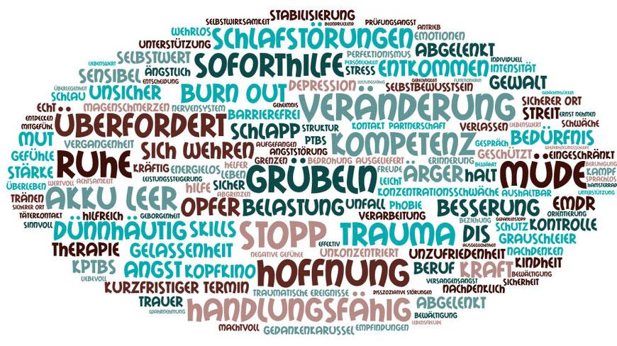 Trauma Therapie Osnabrück Wortwolke Inhalt Angebot Themenübersicht