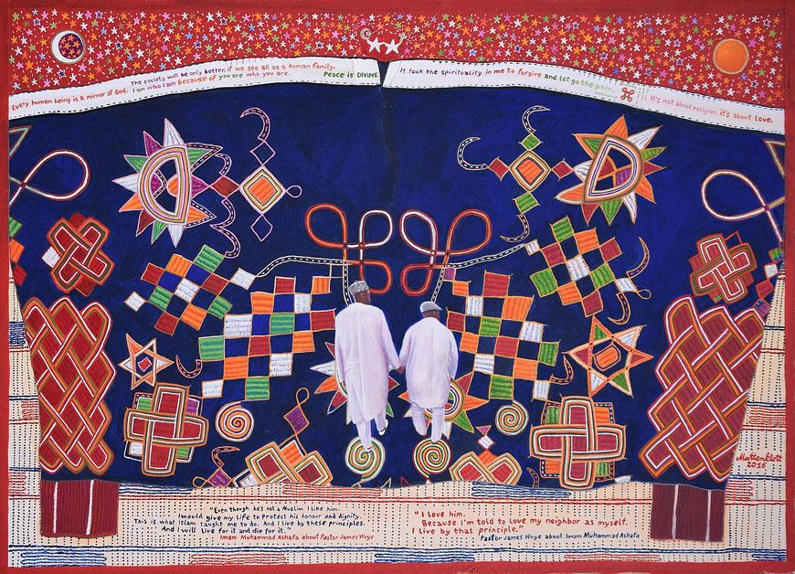 """Anja Mattenklott: """"Mission Possible"""", 2016, 70 cm x 50 cm, Gouache, Pigmente auf Karton"""