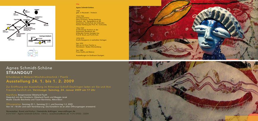 Einladungskarte STRANDGUT, 24.1-1.2.09