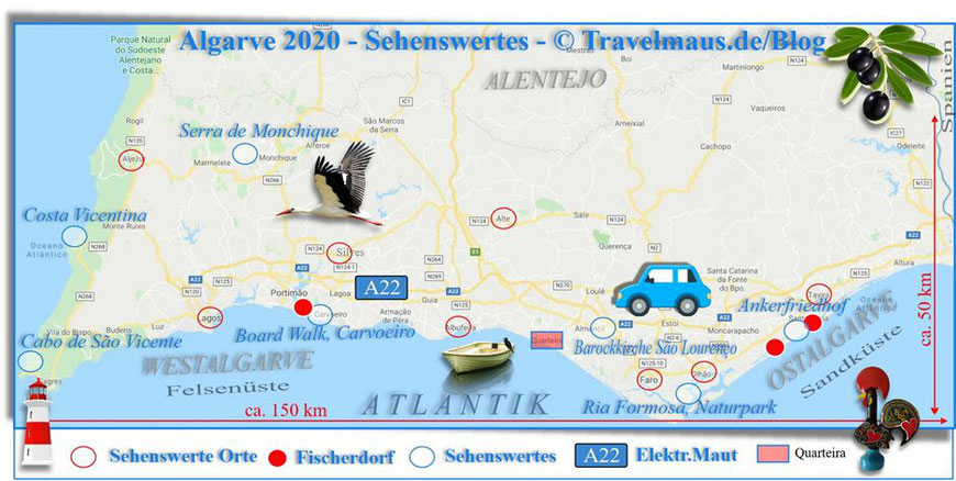 Algarve... wichtige Sehenswürdigkeiten! [2020 © Travelmaus.de]