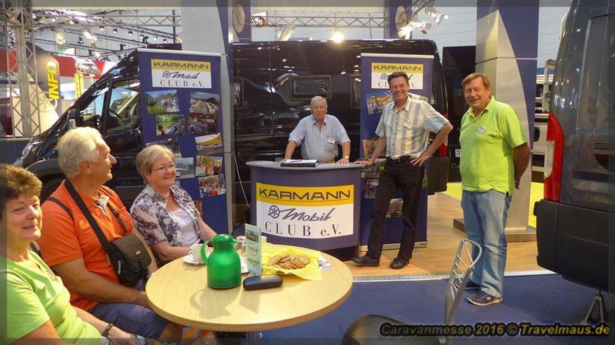 Caravanmesse, Düsseldorf 2016; Karmann-Mobil-Club-Mitglieder (Foto für Veröffentlichung wurde genehmigt)