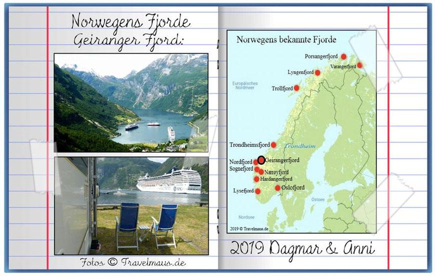 Norwegen- Geirangerfjord ... gehört zum UNESCO Welterbe.