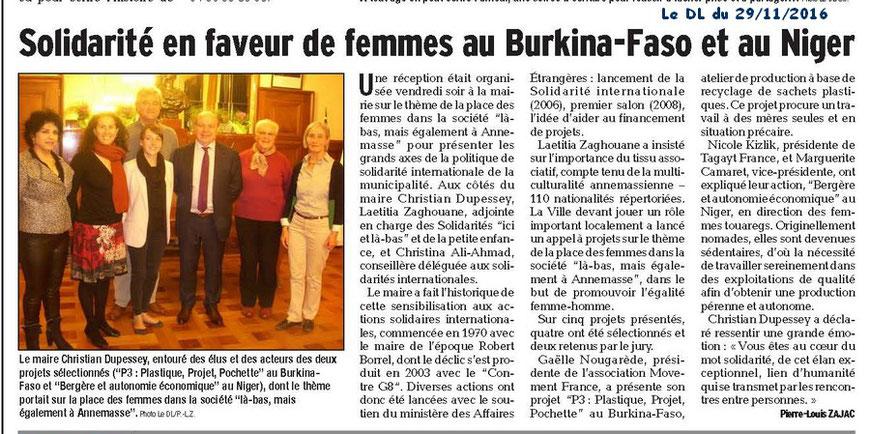 Le Dauphiné Libéré 29.11.2016