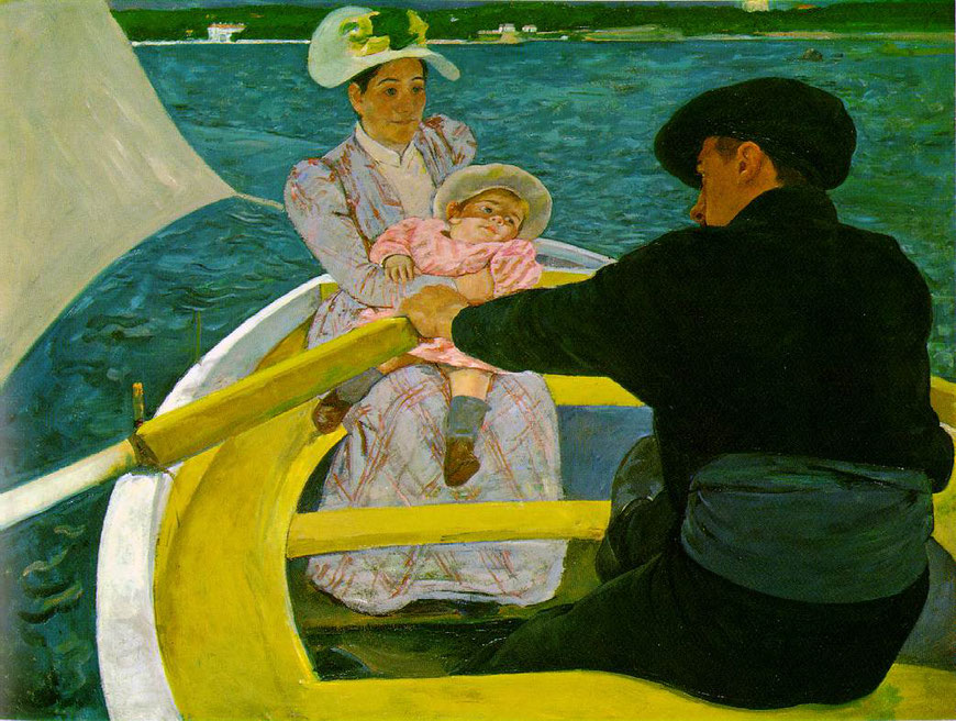 Peinture de Mary Cassat, La Promenade en Barque, 1893 1894