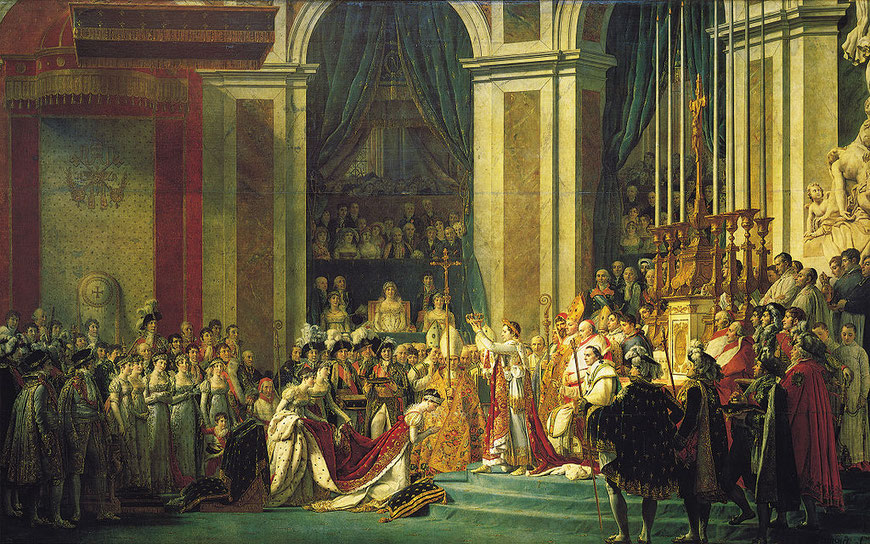 Peinture de Jacques Louis David : le Sacre de Napoleon