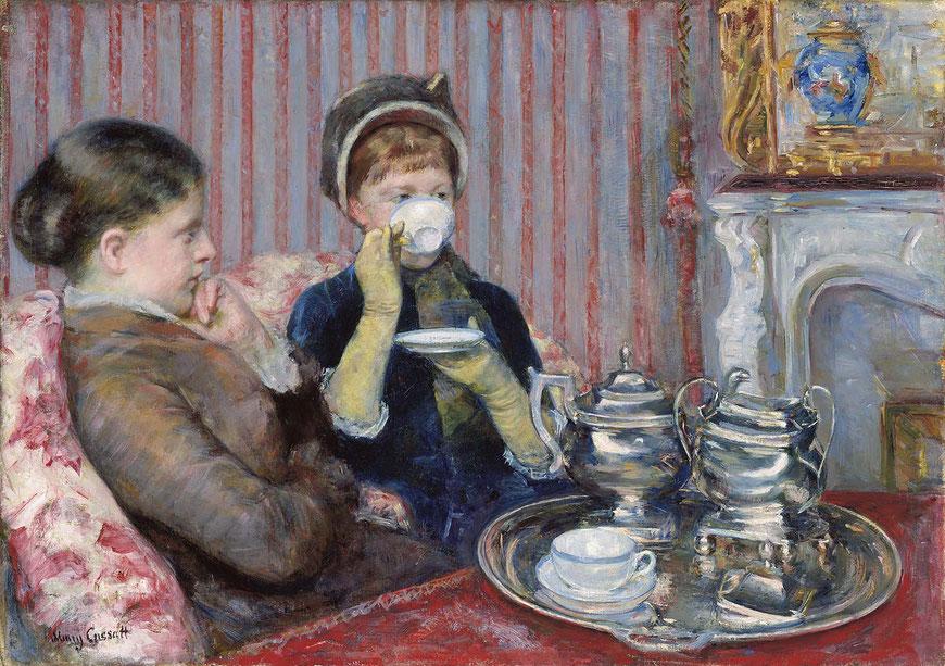 Peinture de Mary Cassat, le Thé, 1880