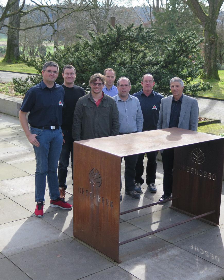 Der Vorstand vlnr: Urs Schaller, Tobias Meuter, Patrik Niederhauser, Christoph Brönnimann, Daniel Oppliger, Ueli Steffen, Urs Grunder