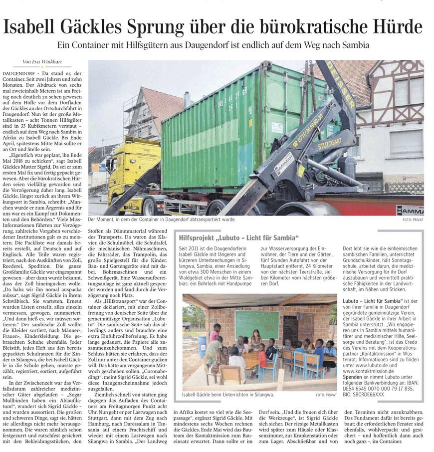 Quelle: Bericht aus der Schwäbischen Zeitung vom 09.03.2021