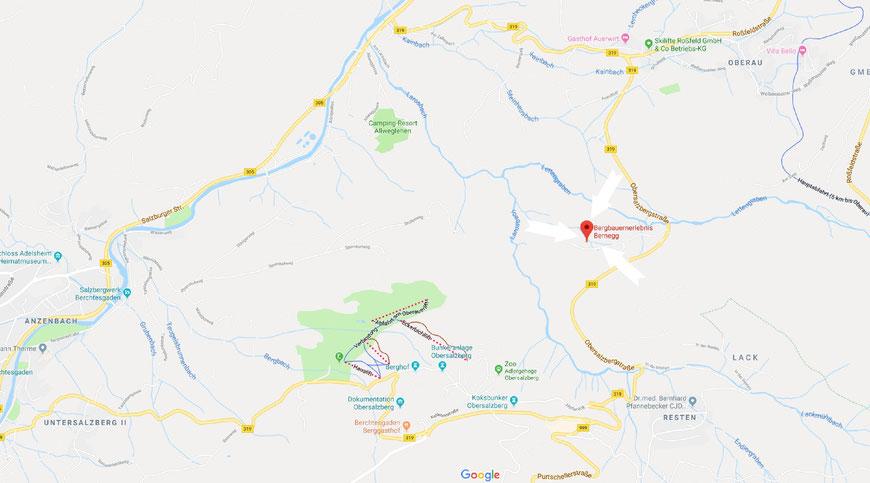 Anfahrt zum Bergbauernerlebnis Bernegg / Anfahrt zum Ferien- und Erlebnishof Bernegg