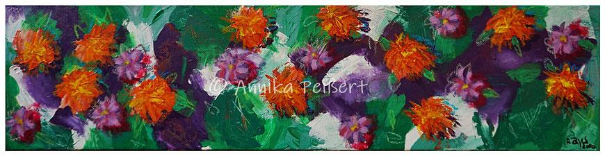 Acryl und Pastell-Ölkreide auf Keilrahmen, 20 x 80 cm