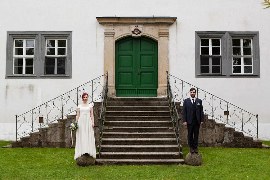 Hochzeitsportraits in Schloss Spreewiese bei Bautzen nahe Dresden von Martin Schneider