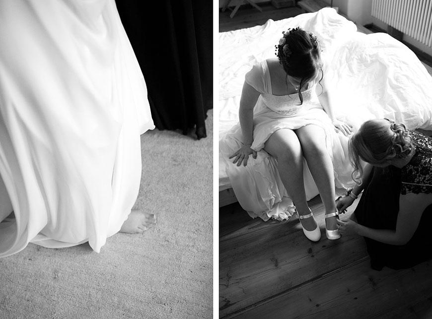 Hochzeitsvorbereitung der Braut in Schloss Spreewiese bei Bautzen nahe Dresden