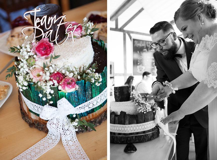 Hochzeitstorte anschneiden Cafe CaRe Königshain