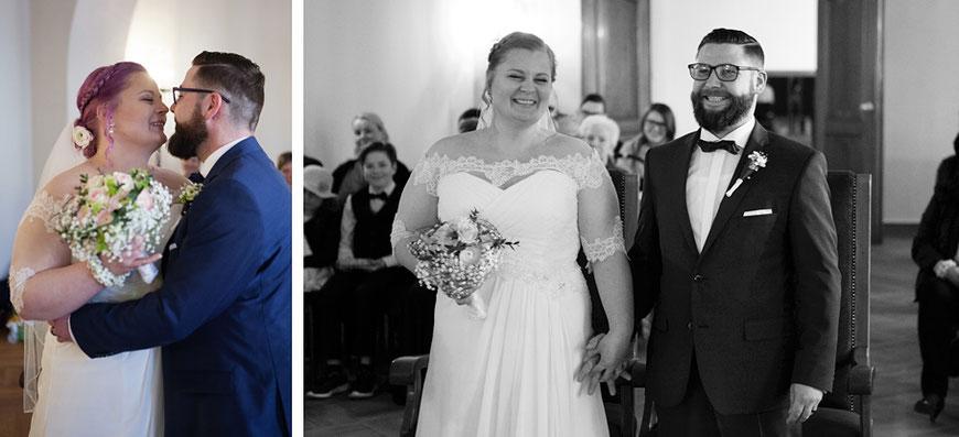 Glückliches Brautpaar im Standesamt Görlitz