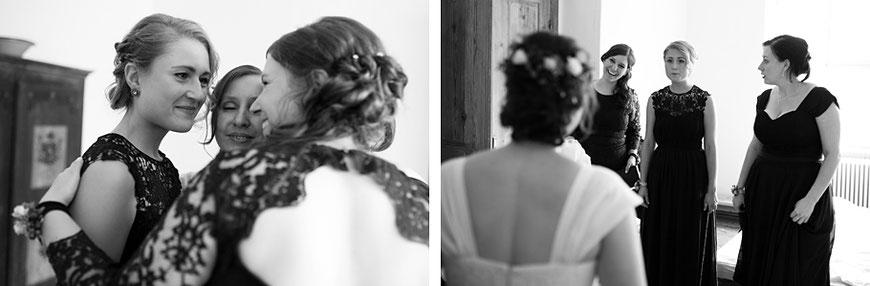 Brautjungfern bei Hochzeit