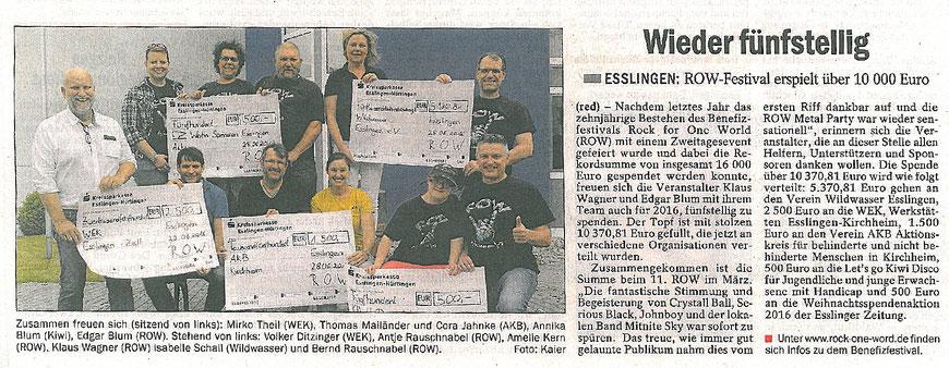 Esslinger Zeitung, 01.07.2016